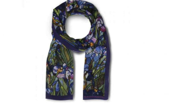 Louis C. Tiffany Irises Scarf