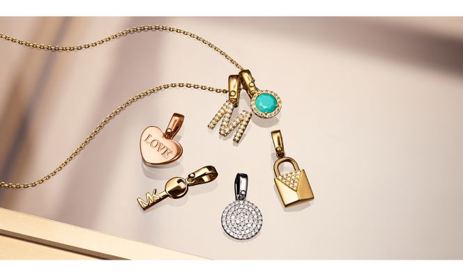 "Michael Kors ""Custom Kors Collection"" Charm Necklace"