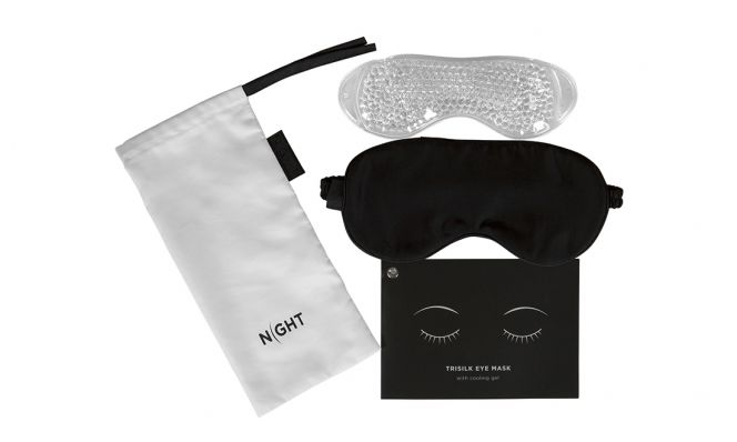NIGHT Silk Beauty Eye mask + Cooling Gel