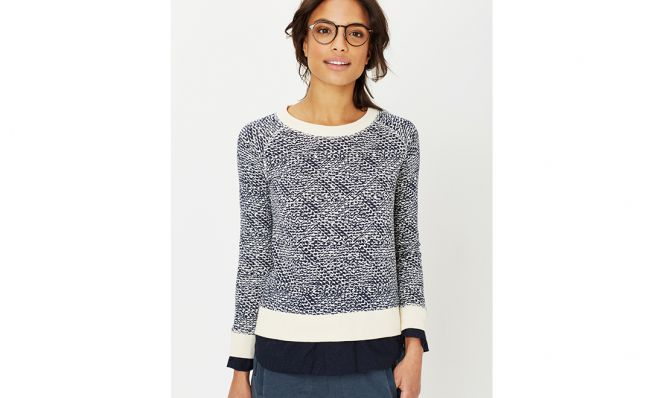 Relaxed Laura Sweatshirt in Conner Print