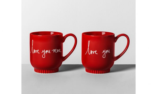Target Love You More mugs for Valentine's Day