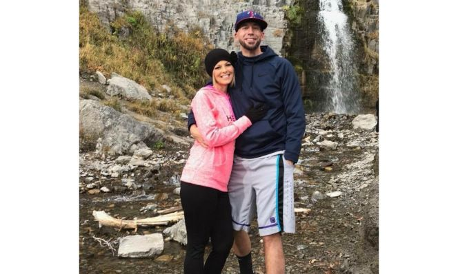 Tiffany Howard AFTER her weight loss at waterfall with husband