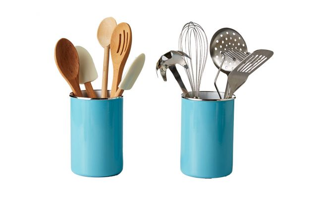 organized kitchen utensils