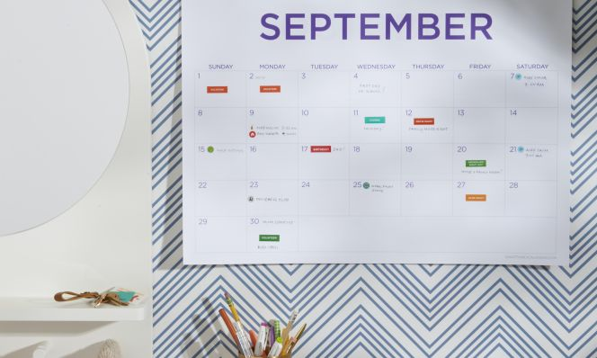 September 2019 calendar giveaway